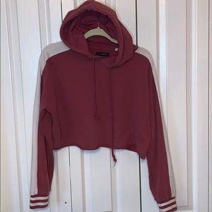 Vintage style cropped hoodie